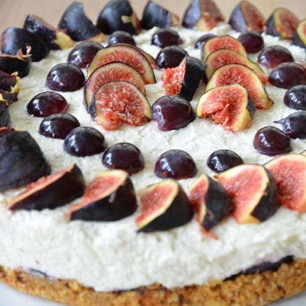 Cheese cake à la ricotta de Béja et aux figues de Djebba